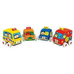 Машинки мягкие с инерционным механизмом, 4 шт, , K's Kids