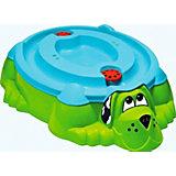 Песочница-бассейн Собачка с крышкой, салатовый, PalPlay