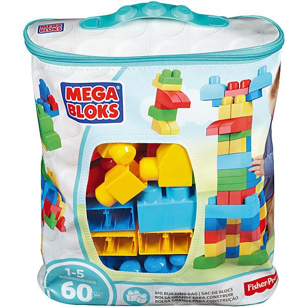 Конструктор из 60 деталей, MEGA BLOKS First Builders