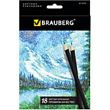 "Цветные карандаши ""Artist line"", 18 цв., Brauberg"