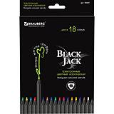 """Цветные карандаши """"Black Jack"""", 18 цв., Brauberg"""