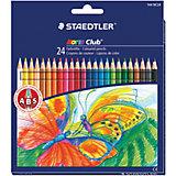 """Цветные карандаши """"Noris club"""", 24 цв., Staedtler"""