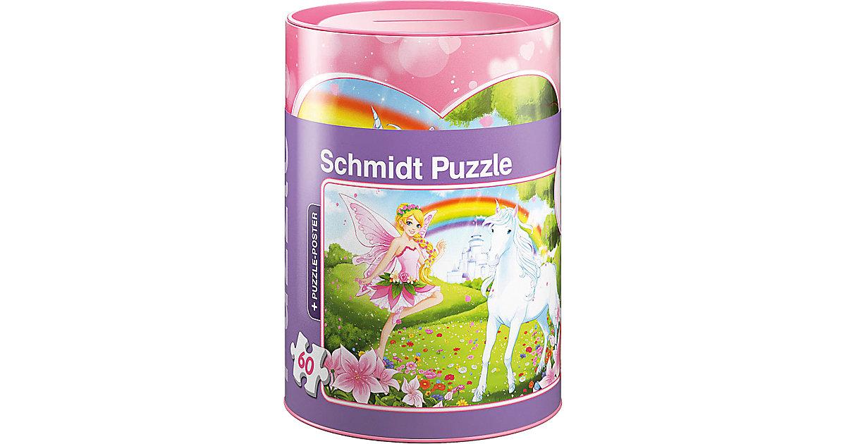 Einhorn, Puzzle in der Spardose, 60 Teile