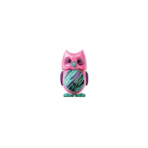 Поющая сова с кольцом, розовая, DigiBirds