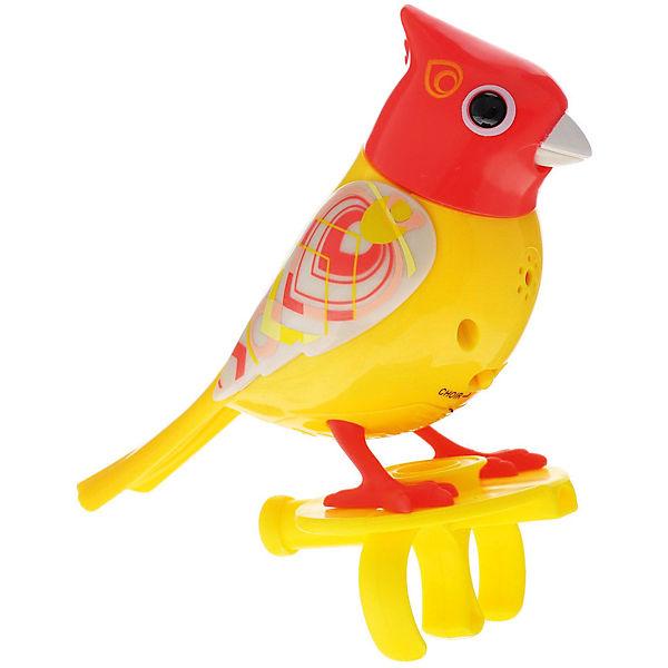 Поющая птичка с кольцом, красная, DigiBirds