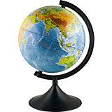 Глобус Земли, физический, диаметр 120