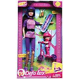 """Набор """"2 куклы  со скейтом и самокатом"""", Defa"""