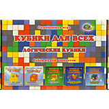 """Развивающая игра """"Кубики для всех"""",набор из 5-ти вариантов"""