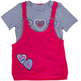 Комплект: футболка и туника для девочки PELICAN