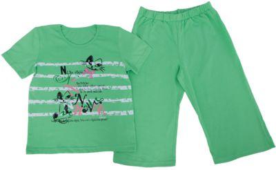 Пижама для девочки PELICAN - зеленый