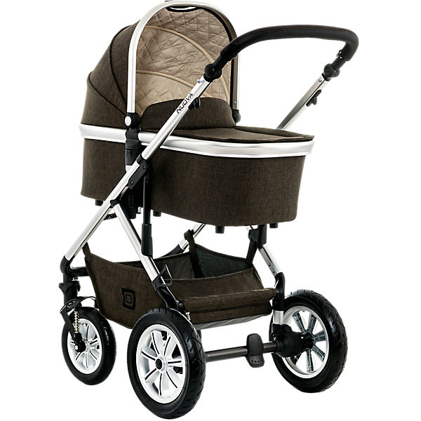 Kombi Kinderwagen NUOVA City, brown/melange