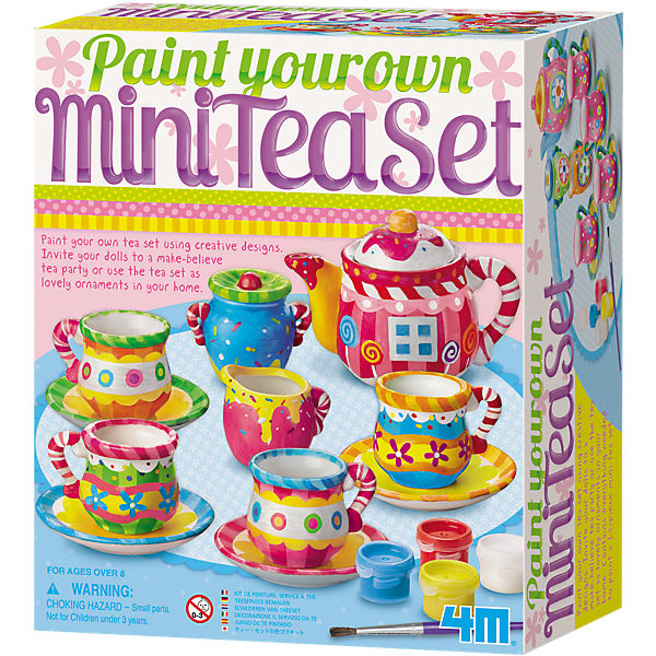 Kreativset Mini-Tee-Set (Paint your own Mini Tea Set)