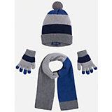 Комплект: шапка, шарф и перчатки для мальчика Mayoral
