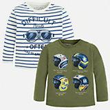 Комплект:футболка с длинным рукавом 2шт. для мальчика Mayoral