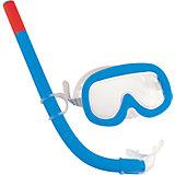 Набор для ныряния (маска+трубка) Sun детский,  Bestway, синий