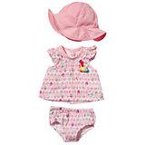 """Летняя одежда для куклы """"Цветное платье- розовая панама"""", BABY born"""