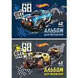 """Альбом для рисования """"Hot Wheels Racing"""", А4, 40 л."""