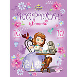 "Цветной картон ""Sofia in flowers"", А4, 10 цв., 10 л."