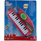 Simba Мини-пианино, 25 см, красное