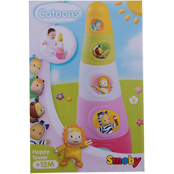 Smoby Cotoons Пирамидка, 22,5*15*10 см, розовая