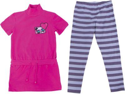 Комплект: туника и леггинсы для девочки PELICAN - фиолетовый