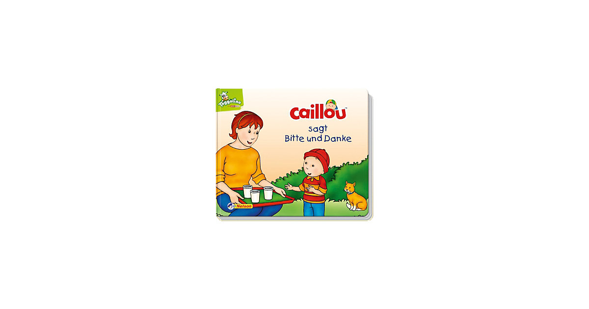 Caillou sagt Bitte und Danke