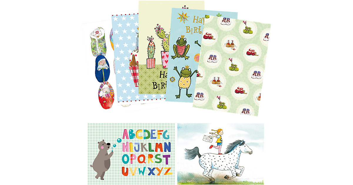 Kinder-Postkartenset, 7 Stück