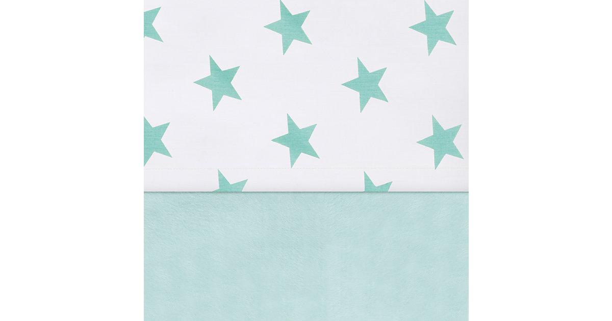 Laken Laufgittermatratze, Little star, jade, 75 x 100 cm türkis Kinder