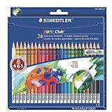 Цветные карандаши с ластиком NorisClub, 24 цв.