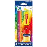 Чернографитный карандаш Limited Edition HB с ластиком и точилкой, 3 шт.