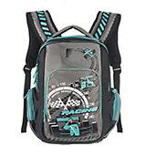 Рюкзак школьный Grizzly черно-бирюзовый