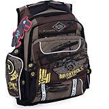 Рюкзак школьный Grizzly, коричневый
