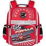 Школьный рюкзак, красный