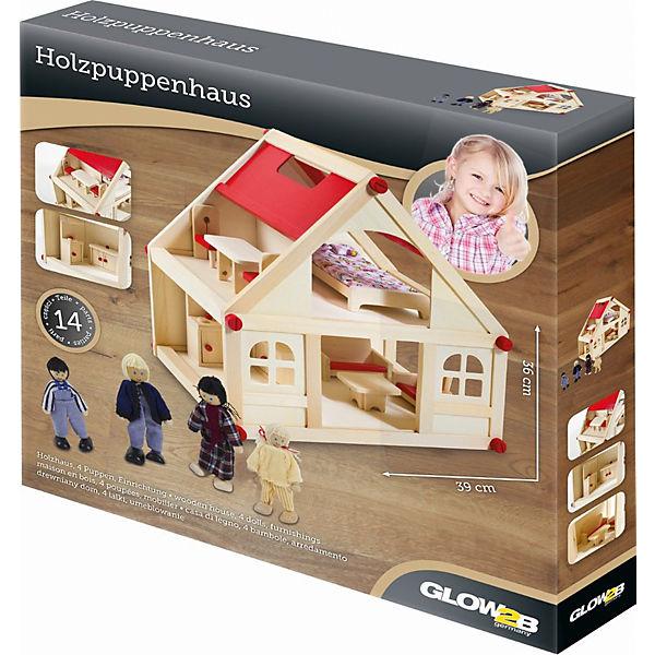 Puppenhaus mit Möbel und Puppen, Glow2B   myToys  Puppenhaus mit ...