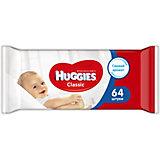 Детские влажные салфетки Classic, 64шт., Huggies