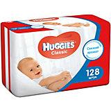 Детские влажные салфетки Huggies Classic двойные 64*2, 128шт.