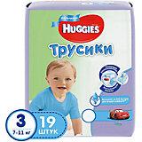 Трусики-подгузники Huggies 3 для мальчиков, 7-11кг, , 19 шт.