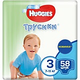 Трусики-подгузники 3 для мальчиков мега, 7-11кг, 58 шт., Huggies