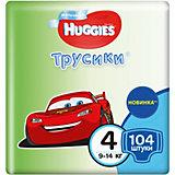 Трусики-подгузники 4 для мальчиков, 9-14 кг, Disney Box, 52*2, 104 шт., Huggies