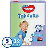 Трусики-подгузники 5 для мальчиков джамбо, 13-17 кг, 32 шт., Huggies