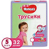 Трусики-подгузники 5 для девочек джамбо, 13-17 кг, 32 шт., Huggies