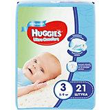 Подгузники Ultra Comfort для мальчиков 3, 5-9 кг, 21шт., Huggies