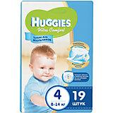 Подгузники Ultra Comfort для мальчиков 4, 8-14 кг, 19шт., Huggies