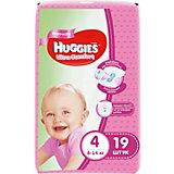Подгузники Ultra Comfort для девочек 4, 8-14 кг, 19шт., Huggies