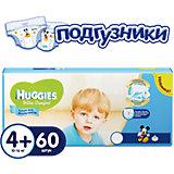 Подгузники Ultra Comfort для мальчиков мега 4+, 10-16 кг, 60шт., Huggies
