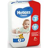Подгузники Classic 3, 4-9 кг, 16шт., Huggies