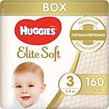 Подгузники Elite Soft 3, 5-9 кг, 160 шт., Huggies