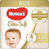 Подгузники Elite Soft 4, 8-14 кг, 132 шт., Huggies