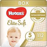 Подгузники Elite Soft 5, 12-22 кг, 112 шт., Huggies