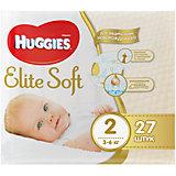Подгузники Elite Soft 2, 4-7 кг, 27 шт., Huggies